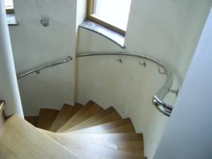 Пристенные поручни для лестниц