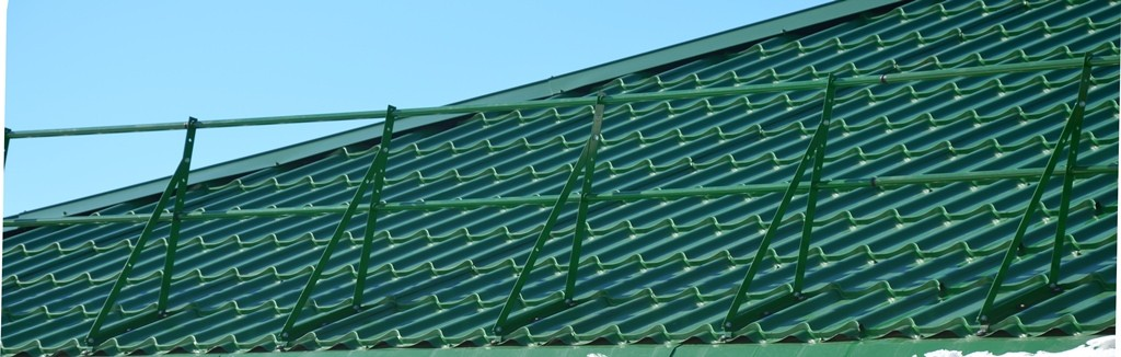 монтаж ограждений на крыше