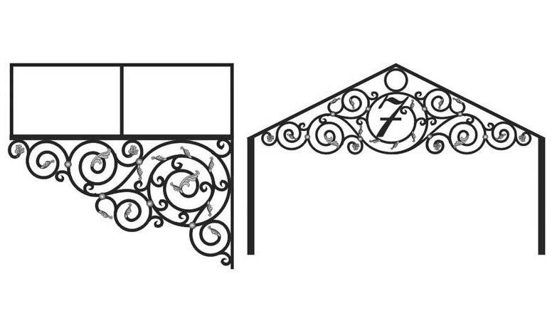 кованые козырьки +и навесы эскизы