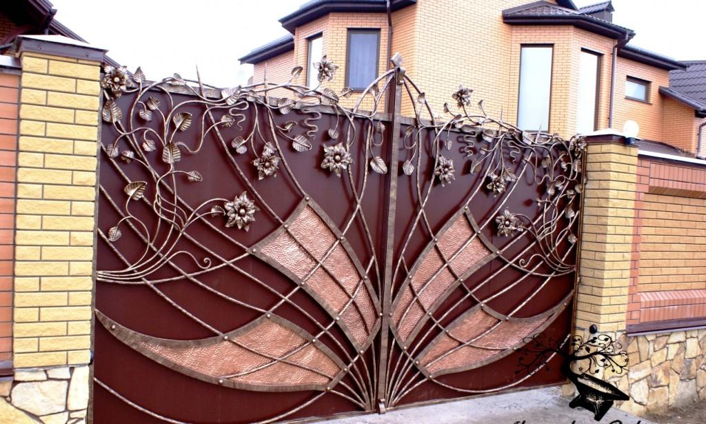 кованые ворота готовые
